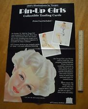 """1992 Varga cards pin-up girls promo poster 14x21"""" Nice!"""