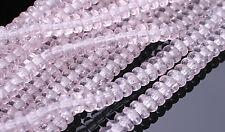 100 Lt  Pink Rondelle Czech Glass Beads 4MM