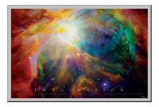 Imagination Poster Nebula Silver Framed Ready To Hang Frame Free P&P