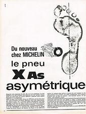 PUBLICITE ADVERTISING  1965   MICHELIN   le pneu X as  asymétrique
