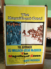 MAGNIFCENT SEVEN,THE-YUL BRYNNER,STEVE McQUEEN-1960-ORIGINAL MOVIE POSTER
