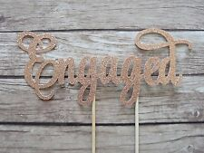 ENGAGED Cake Topper - Rose Gold Engagement, Bridal, Bride to be topper