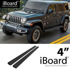 "iBoard Running Board Black 4"" Fit Jeep Wrangler JL 4Dr 18-UP"