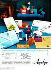 PUBLICITE ADVERTISING 086  1964  les draps Agalys lingerie cadeaux Noel