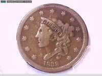 1838 Large Cent PCGS F 12 27398808 Video