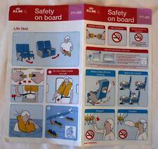 CONSIGNE DE SECURITE BOEING 777-300 / COMPAGNIE AERIENNE KLM 2014
