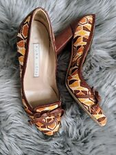 Cute retro vintage style Pura Lopez Leather High Heels Orig $365!