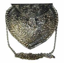 Diwali Deal Metal Clutch OXIDIZED HAND WORK Gypsy Bohemian Vintage ART Purse Bag
