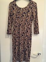 Gorgeous Leopard Print Open Back Dress Size 10 Miss Selfridge Immaculate
