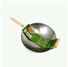 New D.Line Carbon Steel Wok 36cm Deep Frying Cookware High Quality Kitchenware