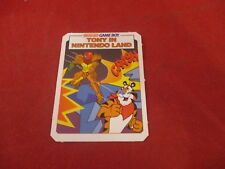 Tony the Tiger Metroid II Nintendo Game Boy Kellogg's Frosted Flakes Promo Card