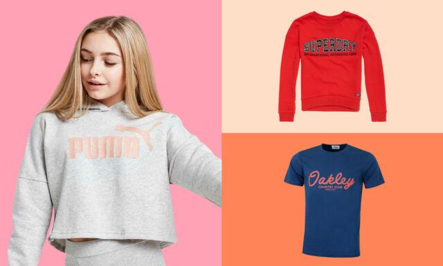 NEW Girls T Shirts Printed Graphic  XS S M L XL Black White Yellow Pink Blue