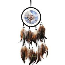 Handmade Dream Catcher With Feathers Wall Hanging Decoration Ornament-Wolf 60cm