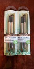 EcoTools Eye Enhancing Duo Brush Set Define Blend Smudge Eyeshadow Liner(2 pack)