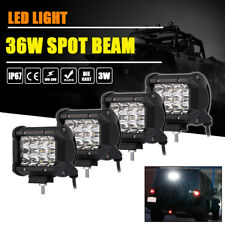 4x Led Work Light Bar 36W 4inch Cube Pods Spot Beam Driving Lamp Offroad UTV SUV
