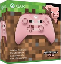 Microsoft Xbox One Wireless Controller - Pink Minecraft Pig X1, Xbox One S NEW