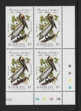 1985 Barbuda - Brown Pelican Corner Block With Traffic Lights - MNH.