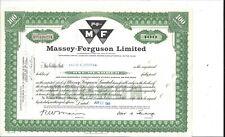 Massey Ferguson Limited (Canada).1965 Common Stock Certificate