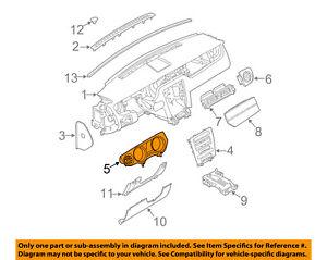 FORD OEM 10-12 Mustang Instrument Panel Dash-Gauge Cluster Bezel AR3Z63044D70AB