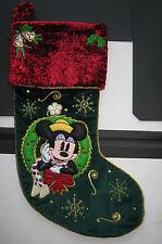 Collectible Disney Mickey Mouse Christmas Stocking Gorgeous