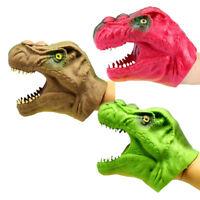 Vinyle souple TPR dinosaure main marionnette tête animale marionnettes jouet ZH