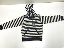 D&G New Girls Kids LONG SLEEVE HOODIE w/ FRONT POUCH & CREST Sz: 6 RTL: $245 R93