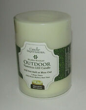 """Outdoor Flameless Candle Impressions New Weather Resistant Realistic Wick 4"""""""