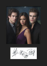 THE VAMPIRE DIARIES #1 A5 Signed Mounted Photo Print - FREE DELIVERY