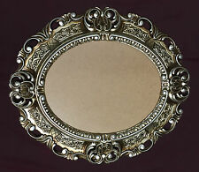 Picture Frame Antique Silver Baroque Oval 45x37 Photo with Glass