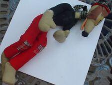 Vintage Big Bad Wolf Fox Dog Stuffed Animal Doll Felt Pants Unknown Char Maker