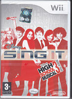 Nintendo Wii SING IT HIGH SCHOOL MUSICAL 3 SENIOR YEAR nuovo import con italiano