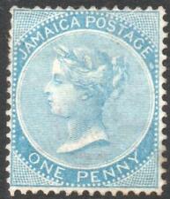 JAMAICA: 1860-1870 - Sg 1b - 1d Blue Unused No Gum Example (35839)