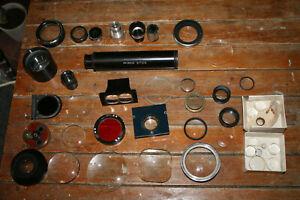 Job lot 1.5kg 40+ Assorted Lens Elements and Components for Camera Lenses Etc.