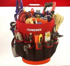 NEW Husky Heavy-Duty Organizer Storage Tool Box Pouch Bucket Jockey