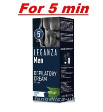 Hair Removal Depilatory Cream for MEN 5 min with Green Tea Leganza,200 ml