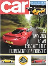 LOTUS EVORA 2+2,PORSCHE 911,BMW M3 ROAD TEST/COMPARISON CAR 'BROCHURE' JULY 2009
