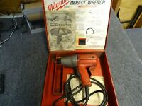 """Milwaukee Heavy Duty Impact Wrench 1/2"""" Square Drive 120 volts 2800ipm"""
