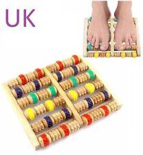 New Wooden Foot Roller Massager Wood Massage Reflexology Relax Relief SPA Care
