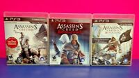 Assassin's Creed III Revelations IV Black - Sony PlayStation 3 PS3 3 Game Lot
