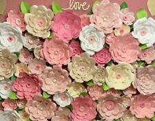 COMPLETE WEDDING WALL 8'x8' 40 GIANT FLOWER BACKDROP HANDMADE IN USA ANY COLORS