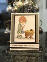 Stampin Up Card Kit Christmas Drummer Boy Precious Moments