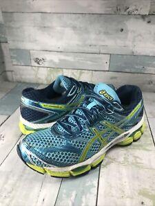 Asics Gel-Cumulus 16 T489N Women's Running Shoes Blue Green Size 8.5