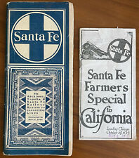 Atchison Topeka Santa Fe Railway Timetable 1915 and Farmer's Special Brochure