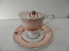 COLLECTIBLE HS FOOTED TEA CUP AND SAUCER AVON HONOR SOCIETY JAPAN