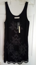Abercrombie and Fitch Embroidered Party Dress black size XS