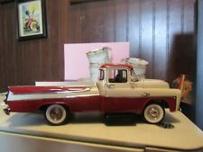 1957 DODGE SWEPTSIDE D 100 PICKUP DANBURY MINT RED & WHITE EXTRA WHEEL HOOD 1995