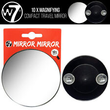 W7 Makeup -  10 X Magnifying Vanity Compact Travel Mirror With Suction Cups