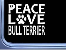 "Bull Terrier Peace Love L645 Dog Sticker 6"" decal"