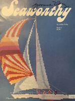 Seaworthy Judith Kirby Cross Stitch Chart Book Sailing Ocean Boat Theme Designs