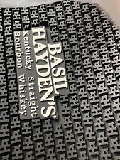Basil Hayden small batch bourbon Bar spill Mat pub cocktail drink 11 X 14 rubber
